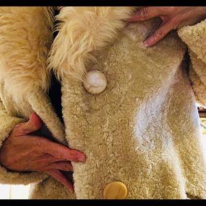 Real Sheepskin Curlam Coat VINTAGE